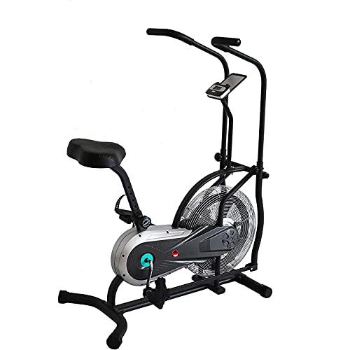 SAFGH Air Bike, Bicicleta estática con Ventilador con Resistencia ilimitada, Manillar Ajustable Bicicleta estática elíptica Advance con 4 manijas