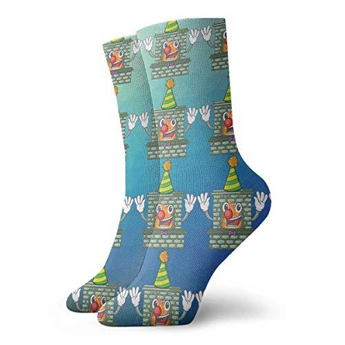 NGMADOIAN grappige zeemansokken, luxe sokken met open haard bedrukt, sportief, warm, 30 cm, personaliseerbaar