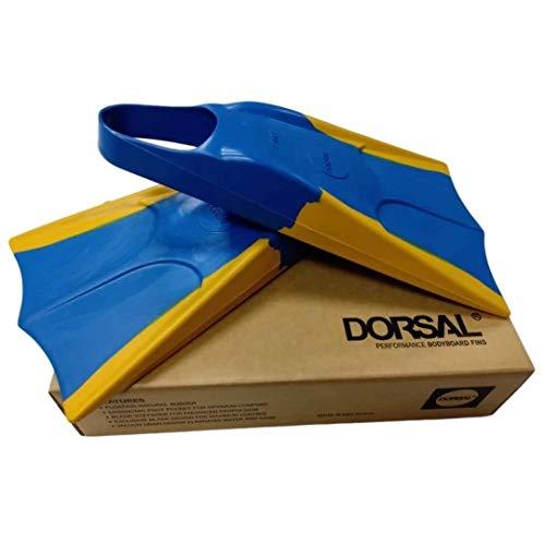 DORSAL Bodyboard Floating Swimfins (Flippers) Blue - Mens US Size XS 4-5