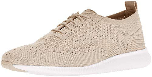 Cole Haan Women's 2.Zerogrand Stitchlite Oxford, Rye Knit/Optic White, 7