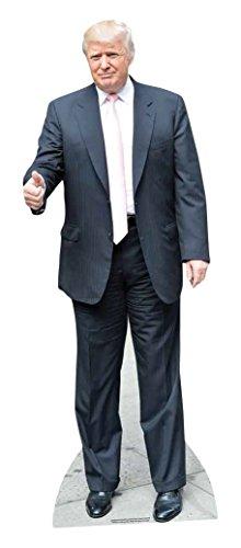 Star Cutouts Kartonschnitt von Donald Trump, Lebensgröße, Pappe, mehrfarbig, 188 x 71 x 188 cm