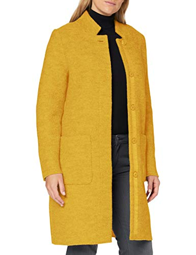 TOM TAILOR Damen Boucle Mantel Jacke, California Sand Yellow, XXL EU