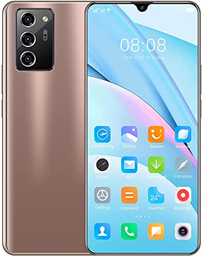 Teléfonos móviles desbloqueados sin SIM, teléfono Android pantalla caída de agua 7 pulgadas, teléfono inteligente capacidad de memoria de 12 GB + 512 GB, 5600 mah batería teléfono inteligente barato