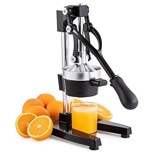 CO-Z Exprimidor Manual de Granadas y Cítricos Exprimidor de Zumo Manual de Acero Inoxidable Exprimidor a Mano Profesional para Naranja, Limon y Frutas (Negro)