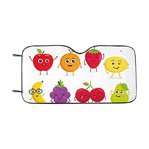 Shade Lindo y Divertido Conjunto de Fruta Auto Sun Talla Universal Fit - Parabrisas del Coche del Carro SUV Parasol