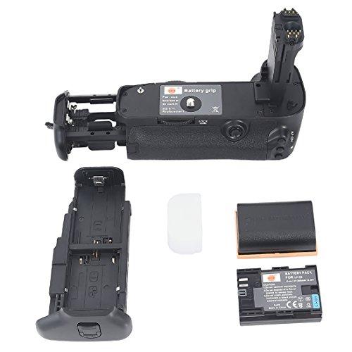 DSTE Multi-Energia Verticale Batteria Presa per Canon EOS 5D Mark III 3 SLR Digital Fotocamera come BG-E11 con 2-pack LP-E6