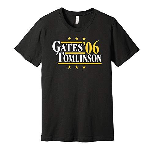 Gates & Tomlinson '06 - Camicia Parodia Campagna Politica - Versione Navy e Oro - Stampa Death Ray Nero XXL