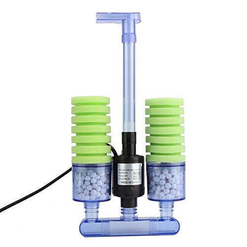 Hffheer Biochemischer Schwammfilter für Aquarium, Filter für Aquarium, Luftpumpe, Schwammfilter, super biochemische Aquarium, doppelter Schwammfilter für Aquarium
