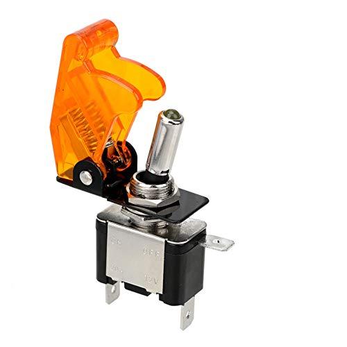 CROSYO 1 UNID 12V 20A SPST TOGGLE SHIRTURY interruptor LED Interruptor LED con cubierta protectora CUBIERTA AUTOMÁTICA AUTO CUBIERTE LED Cambio de palanca Control de interruptor ON/OFF