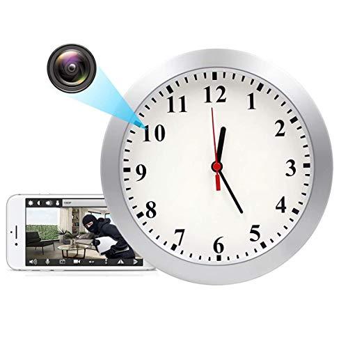 GEQWE 1080P HD Reloj De Pared con Cámara Oculta, Cámara Espía, Detección De Movimiento, Seguridad De Pared con Cámara para Mascotas, para La Seguridad De La Oficina En El Hogar