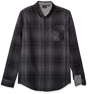 Burnside Men's Choice Long Sleeve Button Down Plaid Woven Shirt
