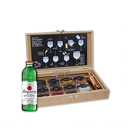 Kit Gin 08 Especiarias Completo Versão Rose Gold + Gin Tanqueray Tonic 275 Ml
