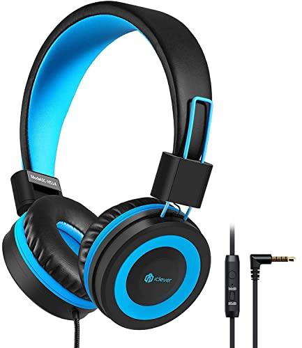 Kinder Kopfhörer, Kabel Kopfhörer für Kinder, Verstellbares Stirnband, Stereo Sound, Faltbare, Entwirrte Drähte, 3.5 mm Aux Jack, 85/94dB Volume Limited, Kinder Kopfhörer auf Ohr