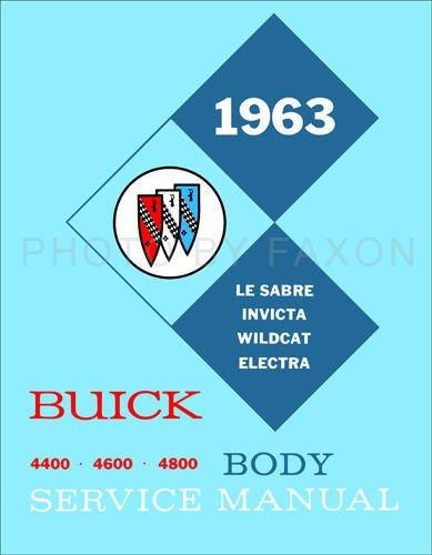 1963 Buick Riviera Body Repair Shop Manual Reprint