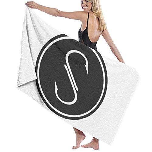 Toalla de baño, 80 x 130 cm, color negro salado, toallas de baño superabsorbentes para playa, gimnasio, playa, spa, spa, etc
