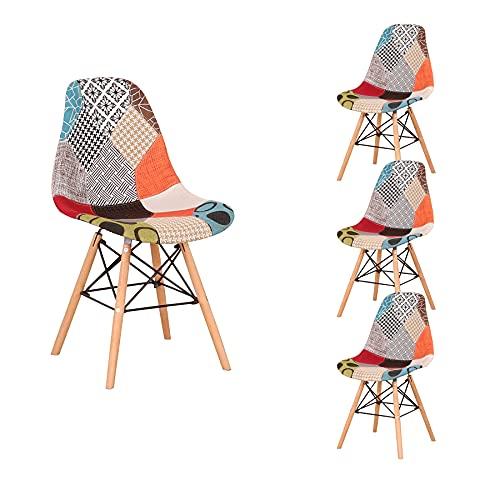 chaise multicolore leclerc