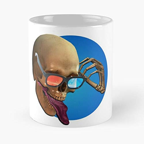 Generic DVD Bones Skeleton Skull Tv Blur 3D Movies Rey Player Best 11 oz Kaffeebecher - Nespresso Tassen Kaffee Motive