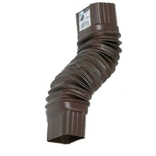 AMERIMAX HOME PRODUCTS - Gutter Flex Elbow, Brown, 2 x 3-In.
