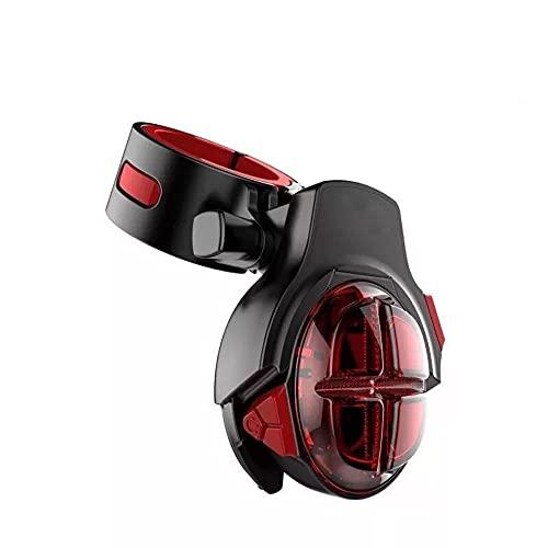 Dabeigouztoud linterna frontal, Luz de cola de bicicleta recargable USB, se puede colocar en bolsas escolares, bicicletas, cascos, etc, adecuado para: montaña, carretera, noche