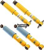 NEW BILSTEIN FRONT & REAR B6 SHOCKS FOR 84-87 CHEVY CORVETTE C4, 46MM GAS PRESSURE SHOCK ABSORBERS, 1984 1985 1986 1987 CHEVROLET VETTE C-4