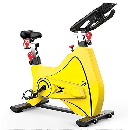 Yuefensu Bicicleta Silencio Interior Bici de Ejercicio Deportes Ciclismo aparatos de Ejercicios Cubierta Equipo for Deportes (Color : Yellow, Size : 1050x500x920-1020mm)