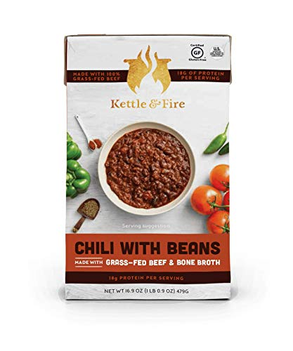 Chili with Beans and Grass Fed Beef and Bone Broth by Kettle and Fire | Amazon
