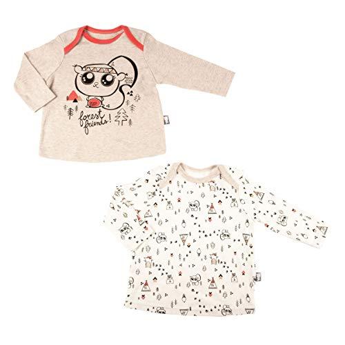 Petit Béguin - Lot de 2 t-shirts bébé garçon Forest Friend - Taille - 36 mois