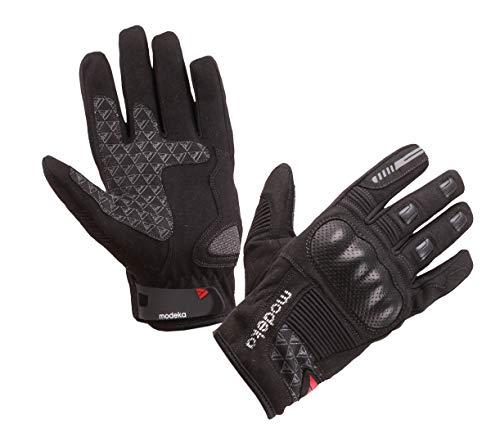 modeka Fuego Guante Hombre textil–Negro