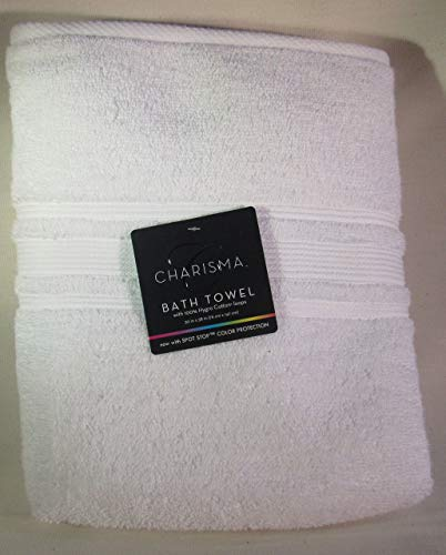 Charisma Luxury Bath Towel - 100% Hygro Cotton, Classic White