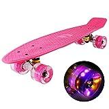 hausmelo Skateboard Mini Cruiser Retro Board Komplettboard für...