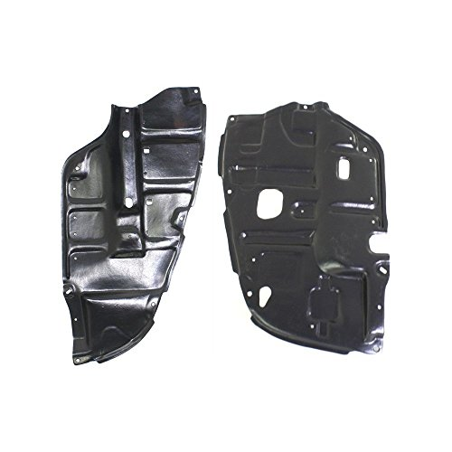 Evan-Fischer Engine Splash Shield Set of 2 Compatible with 2004-2008 Toyota Solara SE Under Cover Right and Left Side