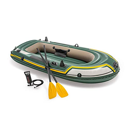 SHKUU Kayak, 236 & Times; 114 & Times; 41CM, PVC Bote Inflable Engrosado Bote a la Deriva Bote Pesca Caucho Aventura para Adultos Canoa, Kayak Inflable para 2 Personas con Paleta plástico Bomba a
