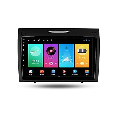 Android 10.0 Car Stereo Double DIN Radio para Benz SLK-Class SLK Clase R171 2007-2013 Navegación GPS Reproductor Multimedia de 9 '' Receptor de Video Bluetooth con 4G WiFi SWC DSP USB Carplay