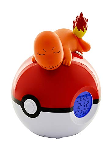 Teknofun 811368 Pokemon-Charmander Digital Alarm Clock-Lamp & Radio Functions, Orange