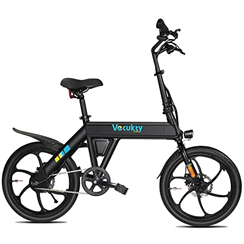 """Vecukty Electric Bike 20"""" Fat Tire Ebike Hill Bicycle Removable Battery Pedal Assist Power, Two Year Warranty"""