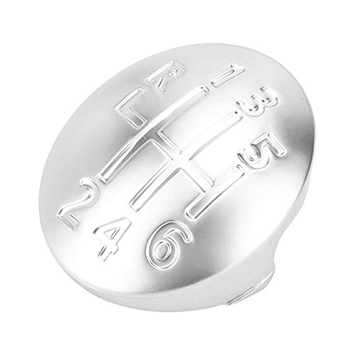 ZHANGJINYAN Coche Manual Engranaje Shift Knob Tap Tapa 6 Speed Fit para Renault Clio Scenic Megane II Accesorios de Estilo de automóvil