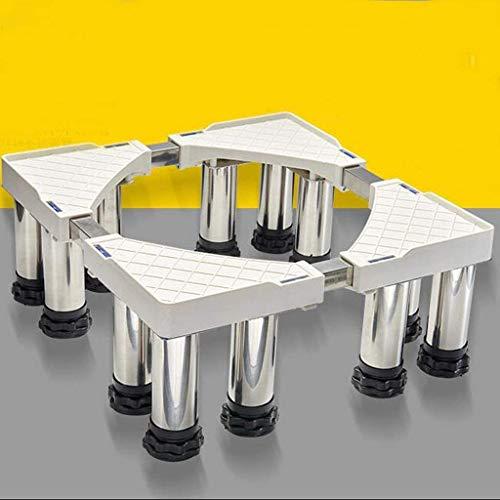 Dongyd Base per elettrodomestici in acciaio inox con staffa per lavatrice e asciugatrice (dimensioni: H19-22cm)