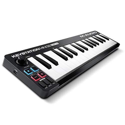 M-Audio Keystation Mini 32 MK3 - Mini Teclado Controlador MIDI/USB Ultra portátil con ProTools First, M-Audio Edition y Xpand!2 de AIR Music Tech