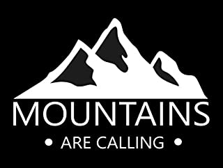 Mountains Are Calling Decal- {WHITE} 5