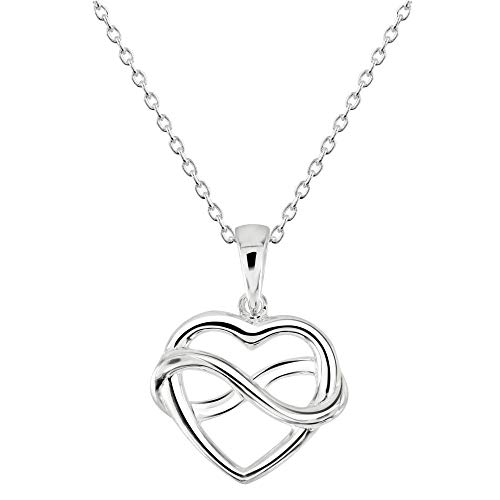 Dew Sterling Silver Heart and Infinity Pendant 9318HP028