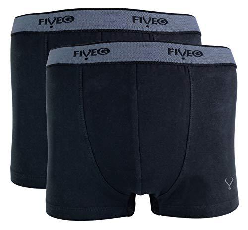 FiveG - 2er Pack Herren Atmungsaktiv Baumwolle Unterwäsche Boxershorts oder Retroshorts (Large (36-38