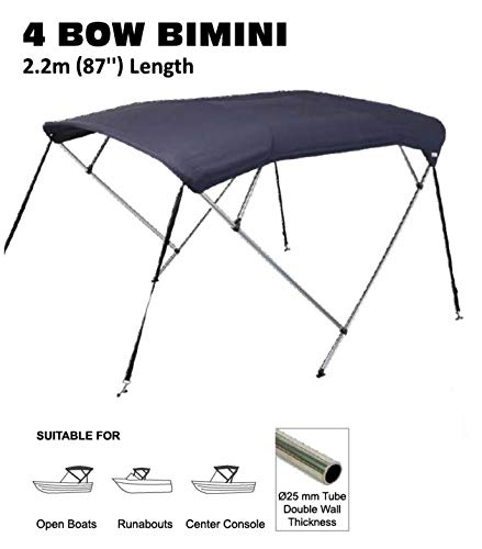 Find Discount Oceansouth Boat Whitewater Bimini Top 3 Bow 25mm Aluminium Tubing Length 1.3mm Height ...
