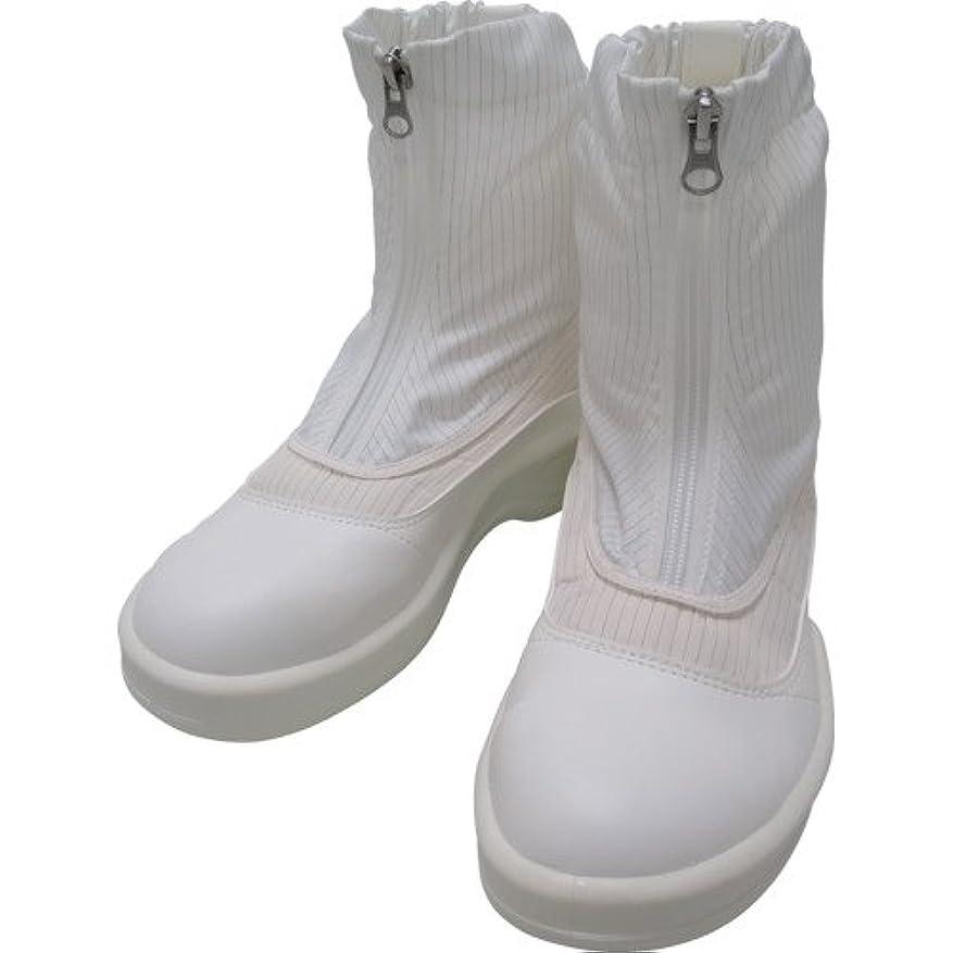 療法援助地雷原ゴールドウイン 静電安全靴セミロングブーツ ホワイト 24.5cm PA9875-W-24.5