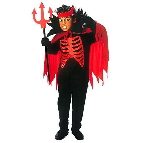 Widmann 38458 kinderkostuum duivel, jongens, rood/zwart, 158 cm