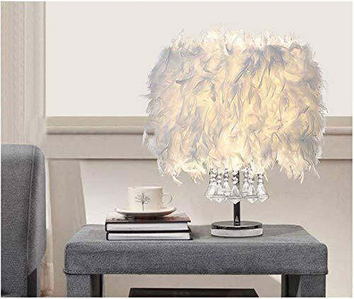 Kreative Moderne Federn Lampenschirm Führte Kristall Metall Wohnzimmer Lichter Persönlichkeit kreativ modernen Minimalistischen Tischleuchte Warme Beleuchtung Romantische Tischlampe (Weiß, D)
