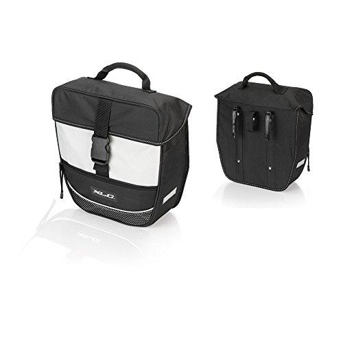 XLC Unisex– Erwachsene Einzelpacktasche Traveller BA-S67, Schwarz Grau, 300x130x340