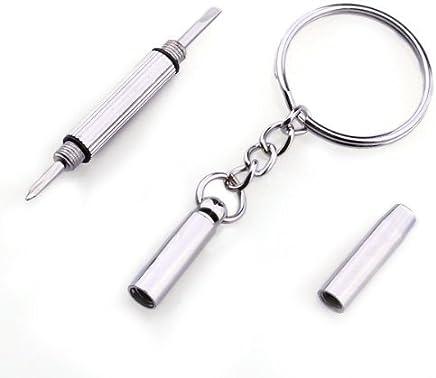 Sonline 3-in-1 Mini Alloy Schraubendreher/ Schluesselanhaenger/ Uhr/ Brillen-Reparatur-Werkzeug