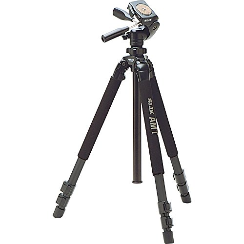 Slik Pro 700DX AMT 3-Section Tripod with Pan and Tilt Head, 19.8lbs Capacity, 6.23' Maximum Height, Black