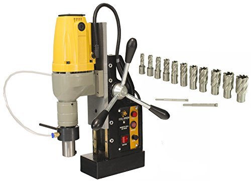 Steel Dragon Tools MD40 Magnetic Drill Press with 13pc 1in. HSS Annular Cutter Kit