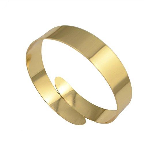 Generico Punk Unisex Vortice Braccio Arm Cuff Armband Bracciale Braccialetto Oro